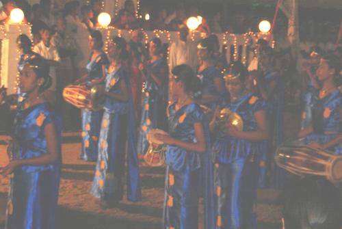 Dancers at  Katharagama Perahera