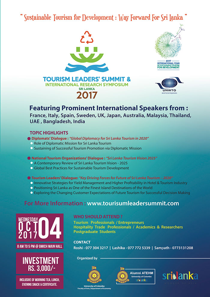 Tourism Leaders Summit and International Research Symposium 2017